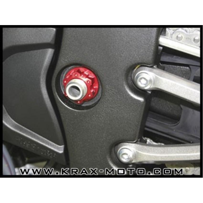 Ecrou d'axe de bras oscillant Evotech 2007-10 (gauche) - R1 - Yamaha