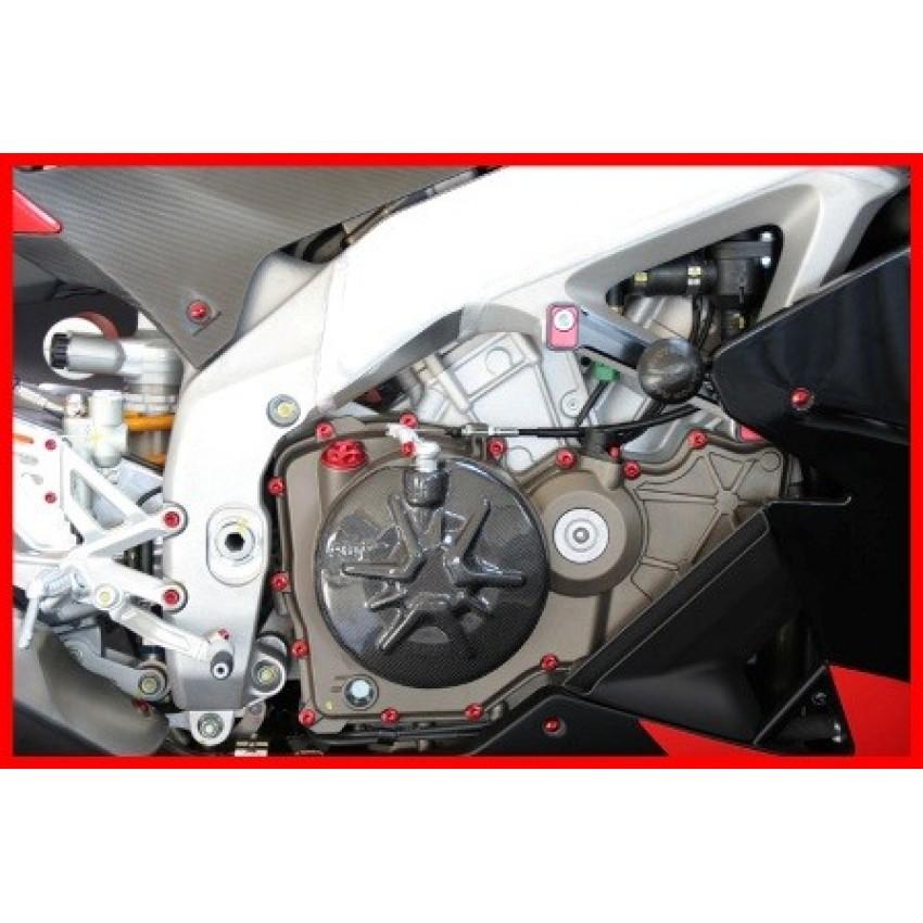 kit visserie moteur evotech rs4 125 aprilia krax moto. Black Bedroom Furniture Sets. Home Design Ideas