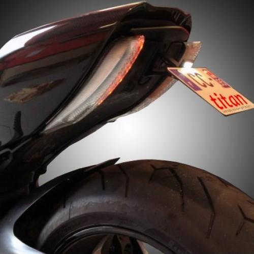 Support de plaque Titan - Diavel - Ducati
