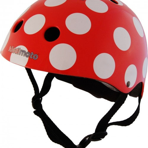 Casque Kiddimoto Red & Dotty