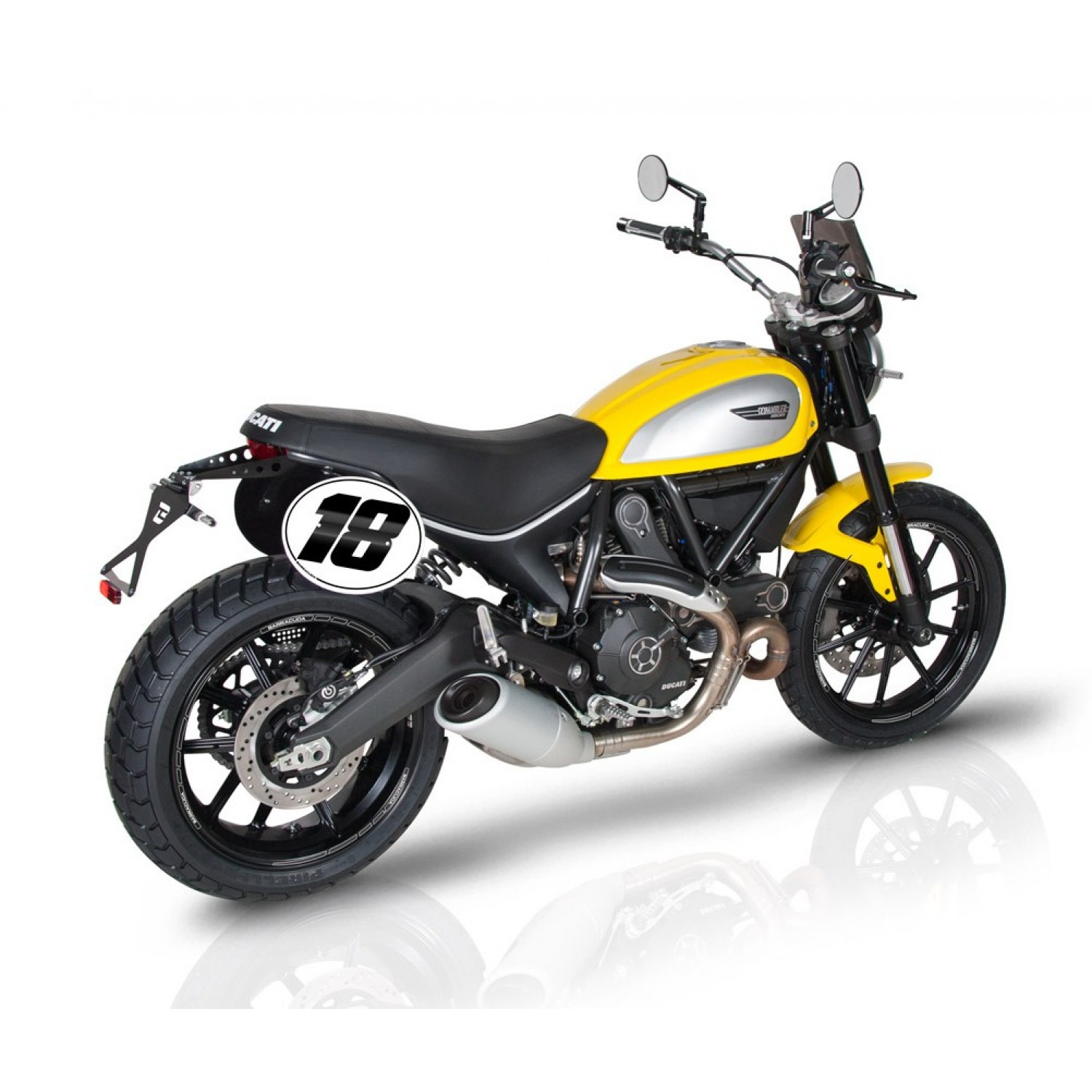 support de plaque inclinable street barracuda scrambler ducati krax moto. Black Bedroom Furniture Sets. Home Design Ideas