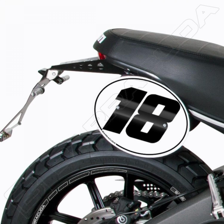 kit plaques num ro barracuda scrambler ducati krax moto. Black Bedroom Furniture Sets. Home Design Ideas