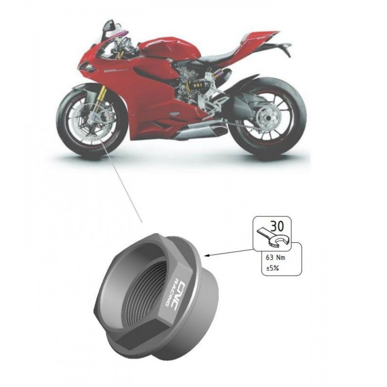 ecrou de roue avant cnc racing panigale 1199 ducati. Black Bedroom Furniture Sets. Home Design Ideas