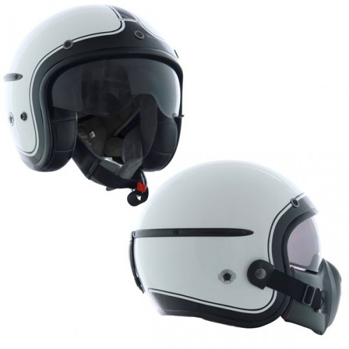 Casque Harisson Corsair blanc/noir brillant