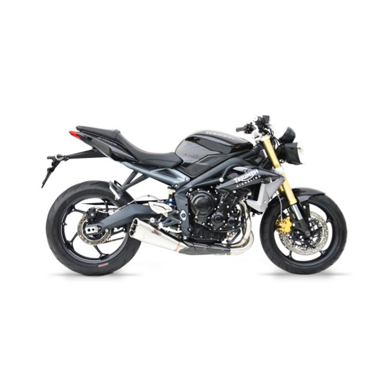 silencieux zard short racing position basse 2013 2016 street triple 675 triumph krax moto. Black Bedroom Furniture Sets. Home Design Ideas