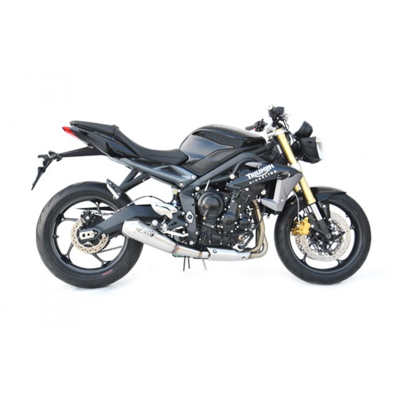 silencieux zard conique racing position basse 2013 2016 street triple 675 triumph krax moto. Black Bedroom Furniture Sets. Home Design Ideas