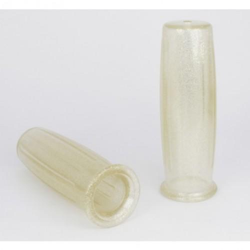 Poignées Posh transparente Metal Flake 22mm