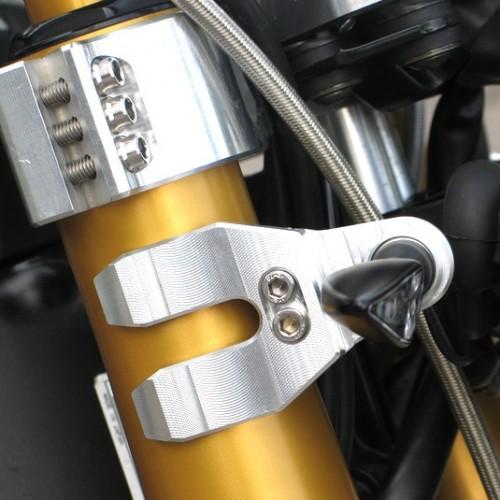 Supports de clignotants GSG Alu Longueur 60mm