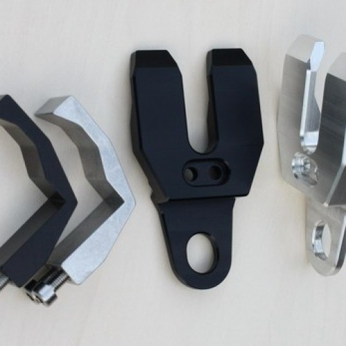 Supports de clignotants GSG Noir Longueur 60mm
