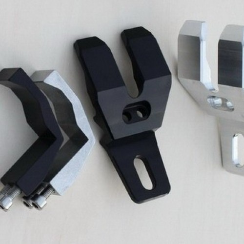 Supports de clignotants GSG noir Longueur 68mm