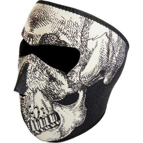 Full face mask Skull phosphorescent ZAN