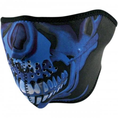 Face mask Skull Chrome Bleu ZAN