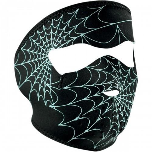 Full face mask Spider Web phosphorescent ZAN
