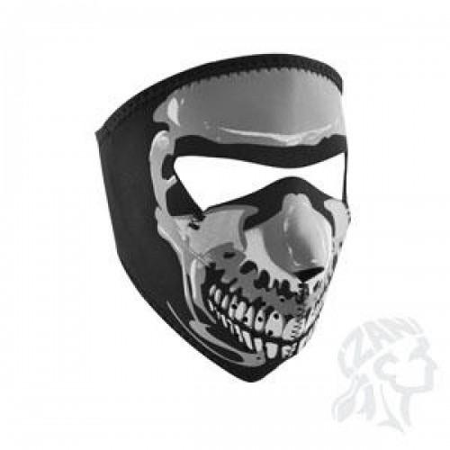 Full face mask Skull Chrome phosphorescent ZAN