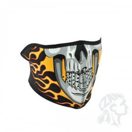Face mask Burning Skull ZAN