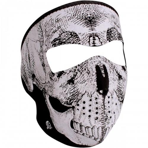 Full face mask Reflective Skull phosphorescent ZAN