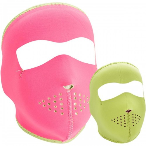 Full face mask Solid Pink/Lime ZAN