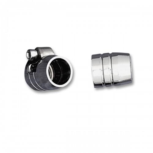 Embout/collier de serrage chromé de durite 6,4mm
