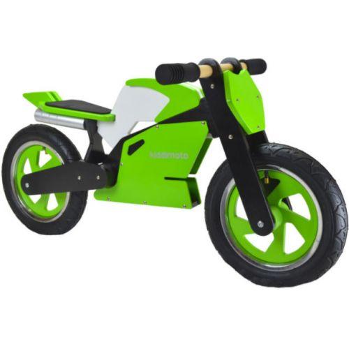 Draisienne bois Kiddimoto Superbike Vert.