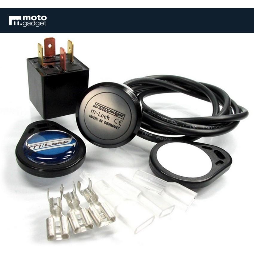 Contacteur sans clé Motogadget m.lock avec technologie RFID.