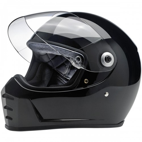 Casque Biltwell Lane Splitter noir brillant