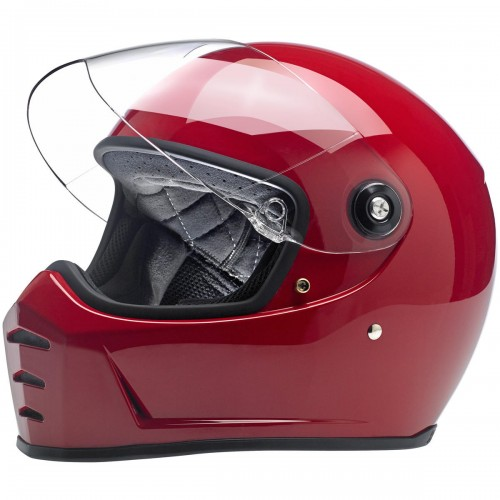 Casque Biltwell Lane Splitter rouge brillant