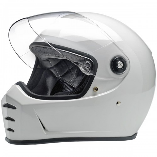 Casque Biltwell Lane Splitter blanc brillant