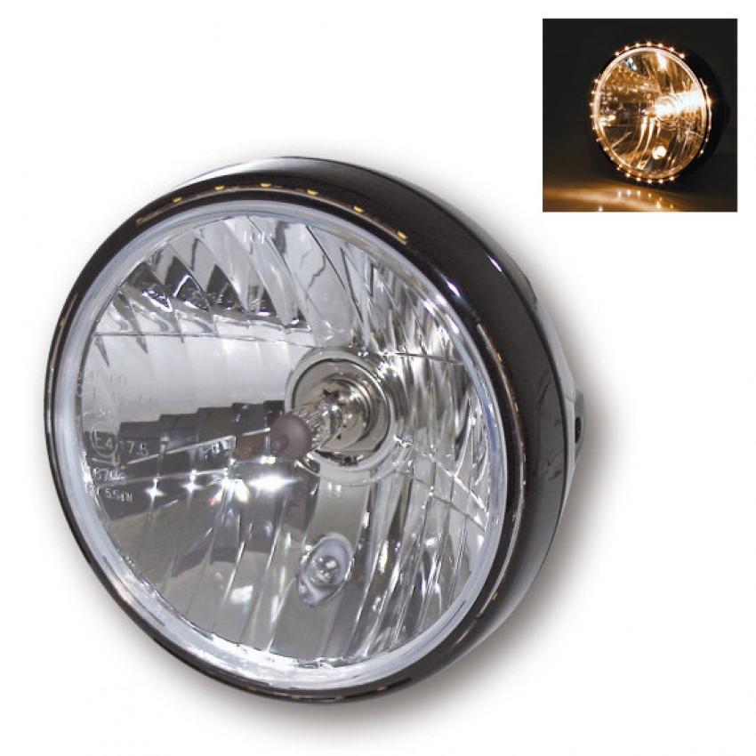 """Phare Reno2 7"""" avec veilleuse anneau de leds"""