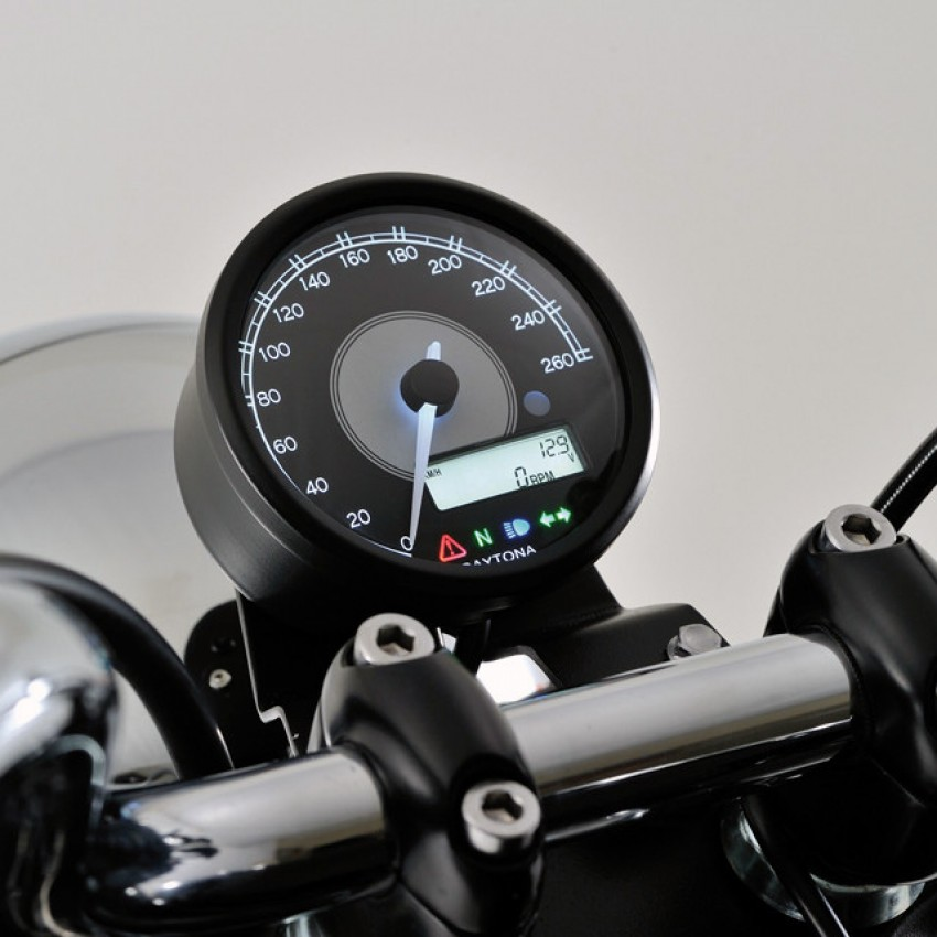 Compteur/Compte-tours Daytona Velona D.80mm - 260km/h