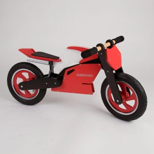 Draisienne bois Kiddimoto Superbike Rouge