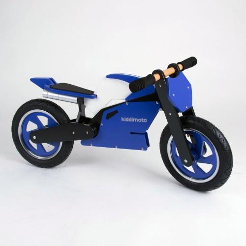 Draisienne BOIS Kiddimoto Superbike Bleu