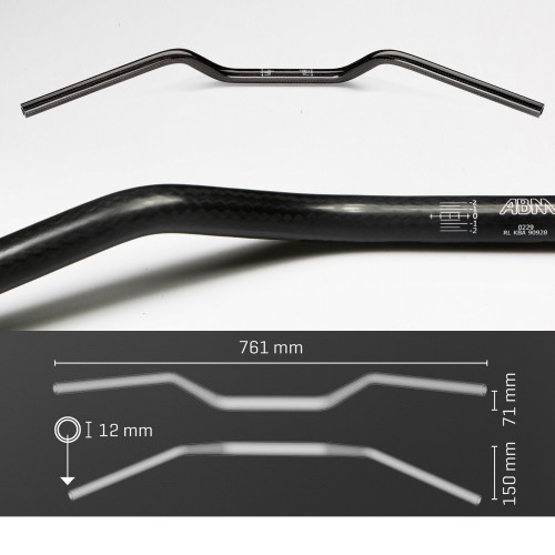 Guidon ABM Superbike - 22mm CARBONE