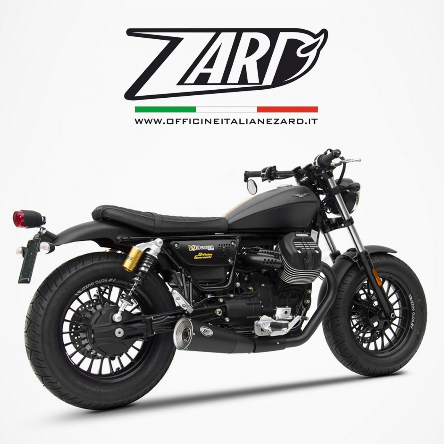 silencieux zard big v9 bobber moto guzzi. Black Bedroom Furniture Sets. Home Design Ideas