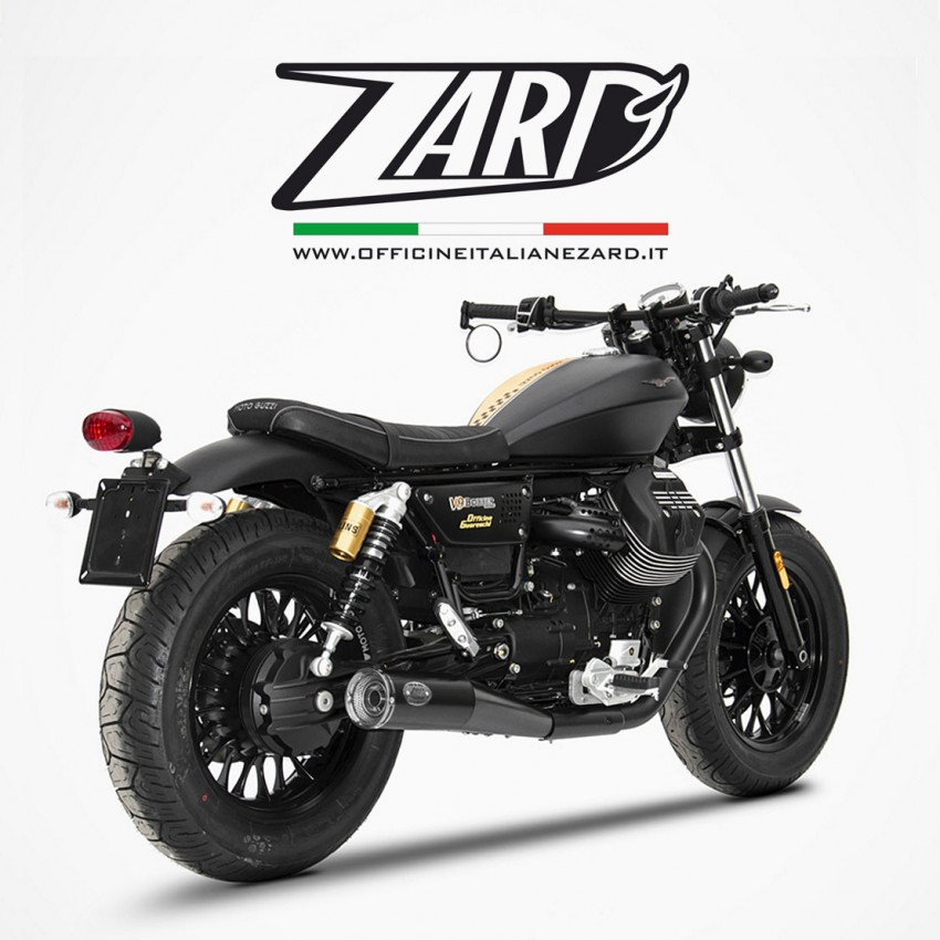 silencieux zard slim v9 bobber moto guzzi. Black Bedroom Furniture Sets. Home Design Ideas