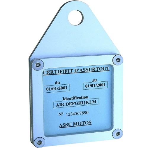 Porte vignette carré alu IMC avec patte