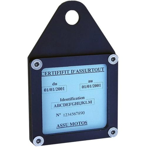 Porte vignette carré noir IMC avec patte