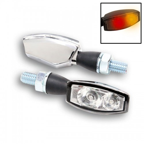 Clignotants / Feux à leds Highsider Blaze Chrome