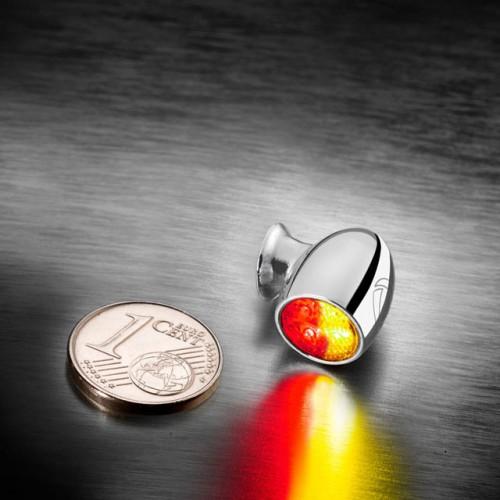 Clignotants / Feu à leds Kellermann Bullet Atto DF chrome (paire)