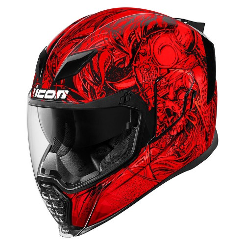 Casque ICON AIRFLITE™ KROM™ Rouge