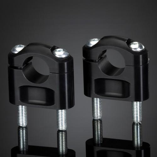 Pontets ABM 22mm Noirs hauteur 30mm (Paire)