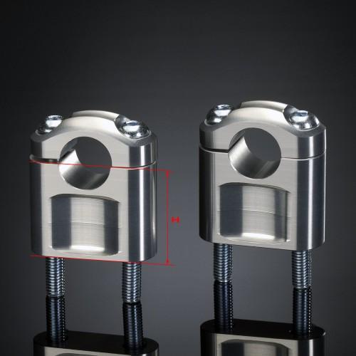 Pontets ABM 22mm Argent hauteur 50mm (Paire)