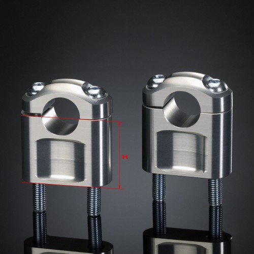 Pontets ABM 22mm Argent hauteur 40mm (Paire)