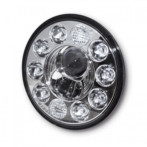 "Insert de phare à leds 7"" Highsider Typ.1 Chrome"