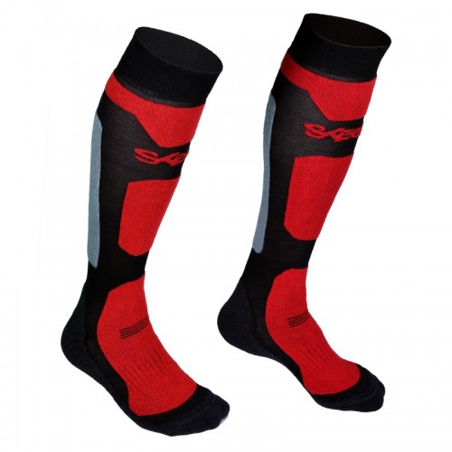 Chaussettes technique moto Skeed Spa Rouge