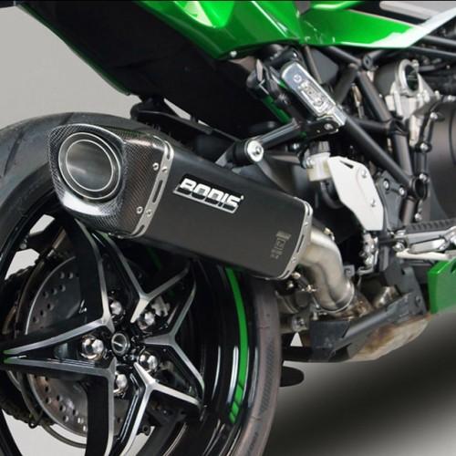 Silencieux Bodis V4-M-CA Inox noir - H2 SX - Kawasaki