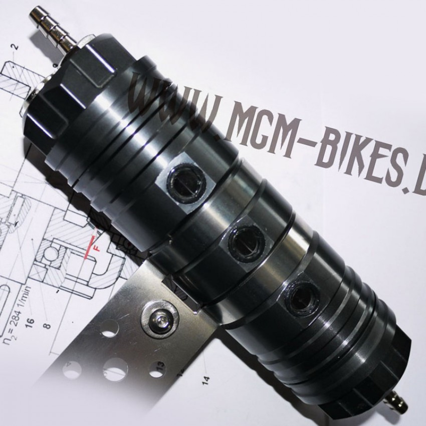 Vase d'expansion en aluminium MGM Bikes Noir