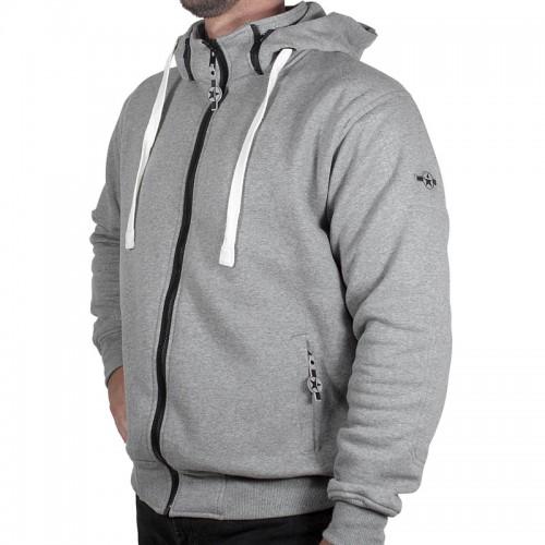 Sweater moto Harisson Patriot avec protections - Gris chiné