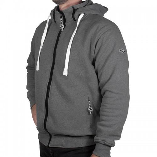 Sweater moto Harisson Patriot avec protections - Gris anthracite