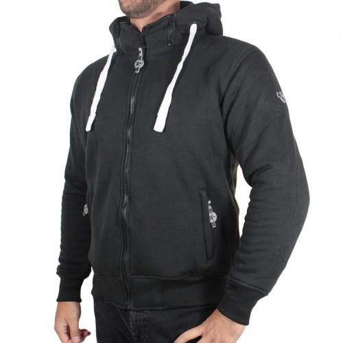 Sweater moto Harisson Patriot avec protections - Noir