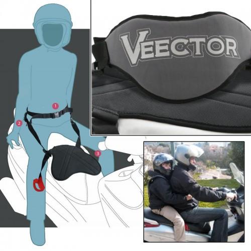 Ceinture de sécurisation passager moto Pan-Belt 2